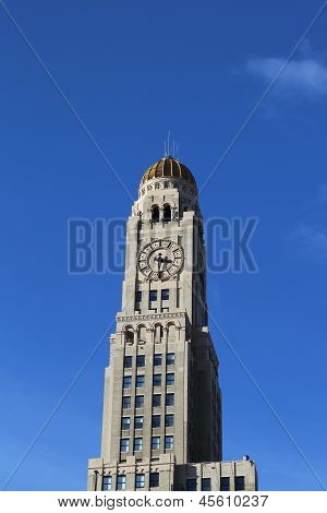 The Williamsburgh Savings Bank Tower in Brooklyn, New York