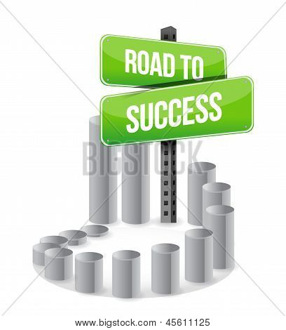 Road To Success Sign Graph Sign