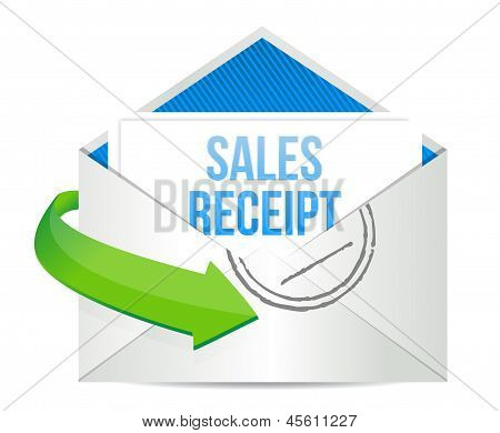 Email Sales Report Illustration Design
