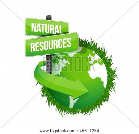Natural Resources Concept Illustration Design