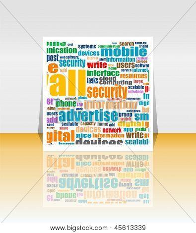 Social Media Marketing - Word Cloud - Flyer Or Cover Design