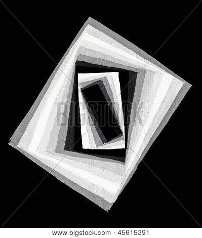 Concentric Rectangular Light Gradient