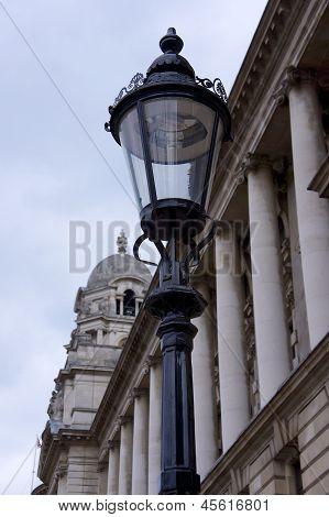 London Straßenlaterne und Architektur