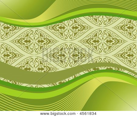 Elegant Banner With Pattern. Vector Illustration