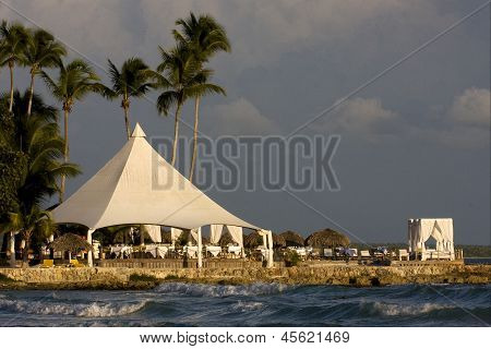 Tourist Tent Coastline  Peace
