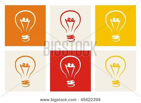 Light bulb vector icon. Sign of creative invention