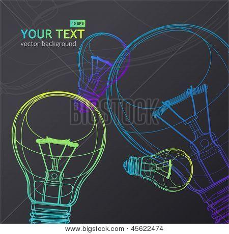 Vector Light bulb background