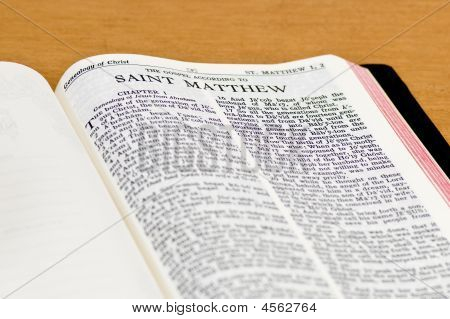Bible Page - Saint Matthew