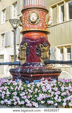 Delemont (switzerland) - Fountain