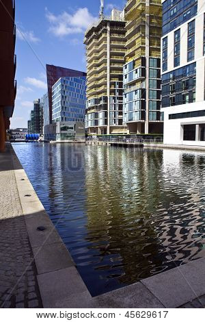 Paddington Basin In London