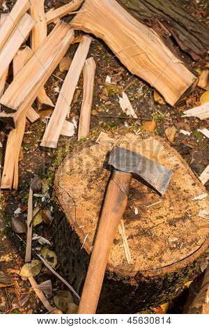 Axe On Chopping Block