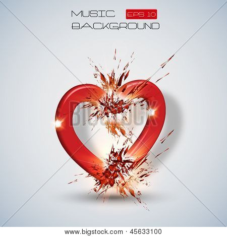 Vector abstract hearth background
