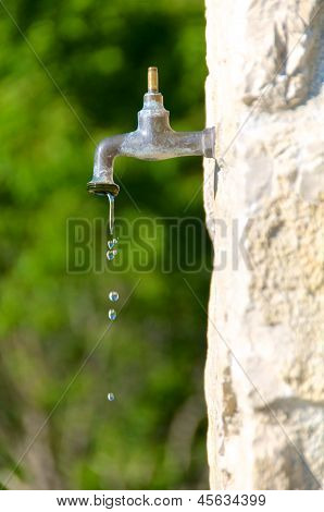 Water Preservation, Old Faucet