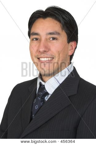 Business Man Smiling Confidently