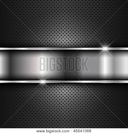 Abstract background with a metallic design