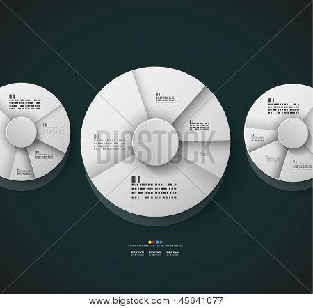 Radial diagram design template. Vector