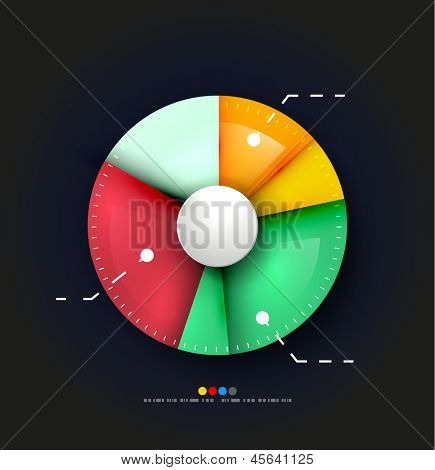 Radial diagram design template. Vector