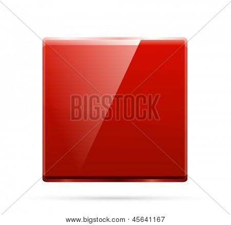 Glass square color plate. Vector