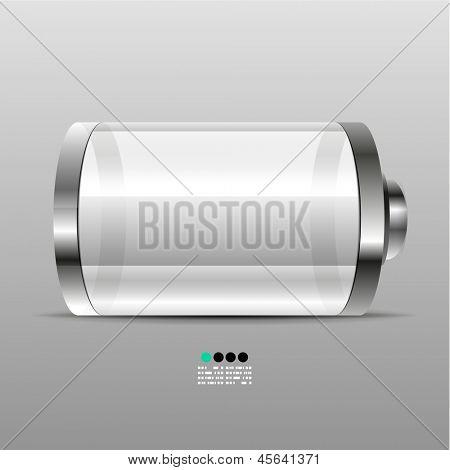Battery vector icon desgin template