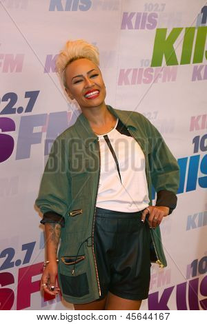 LOS ANGELES - MAY 11:  Emeli Sande attend the 2013 Wango Tango concert produced by KIIS-FM at the Home Depot Center on May 11, 2013 in Carson, CA