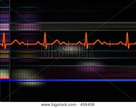 Electrocardiograma fundo