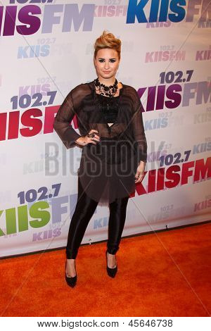 LOS ANGELES - MAY 11:  Demi Lovato attends the 2013 Wango Tango concert produced by KIIS-FM at the Home Depot Center on May 11, 2013 in Carson, CA