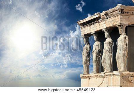 Partenón en la Acrópolis, Atenas Grecia