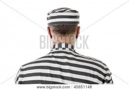 Convict prisoner jailbird rear view
