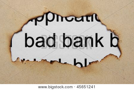 Bad Banking Concept