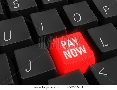 Pay Now Keyboard Key