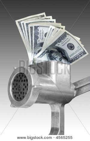Dollars Are Milled In A Meat Grinder