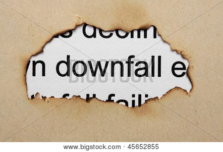 Downfall Text On Paper Hole