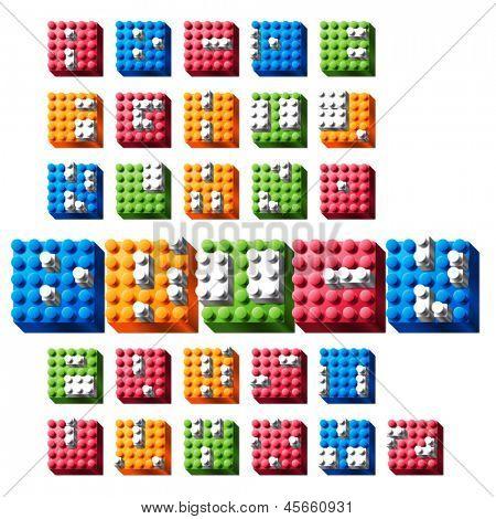 Vector Interlock Bricks Alphabet Set