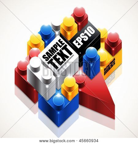 Vector Interlock Bricks Graphics