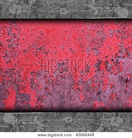 red, paint, old rusty iron background wall grunge fabric abstrac