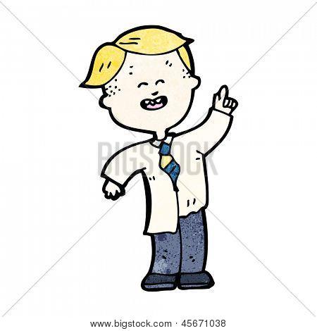 cartoon blond school kid