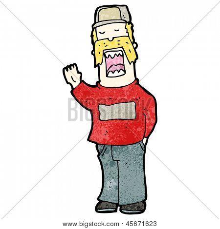 cartoon arrogant man