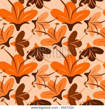Seamless Orange Flower