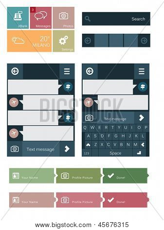 Flat user interface elements