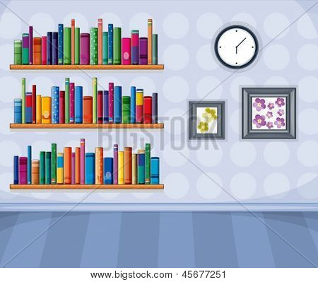 Ilustración de un conjunto de diferentes libros