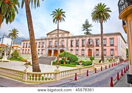 Town hall in the center of La Orotava. Tenerife, Canary Islands, Spain