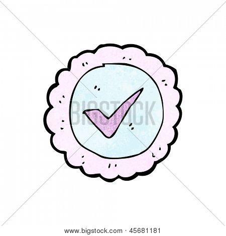 cartoon tick sign