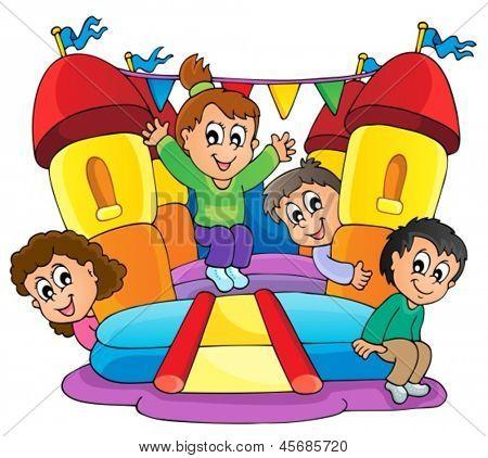 Kids play theme image 9 - eps10 vector illustration.