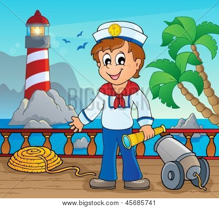 Image with sailor theme 2 - eps10 vector illustration.