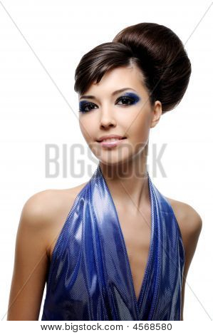 Young Woman With Fashion Hairstyle