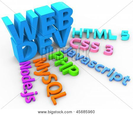 Tools web site development uses HTML CSS SQL PHP with clipping-path