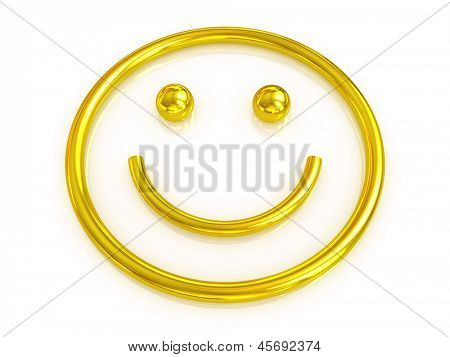 Emotional smiley. 3d