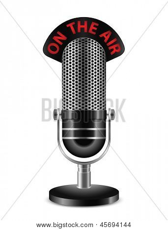 """On The Air"" Microphone. Raster"