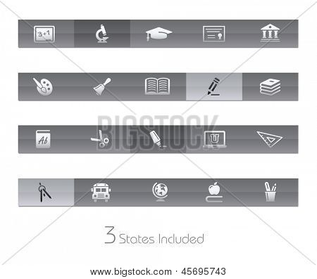 School & Education // Gelbar Series +++ It includes 3 buttons states in different layers. +++