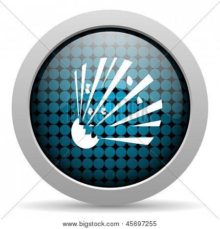 bomb glossy icon